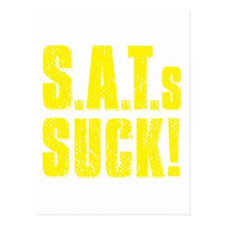 SAT s SUCK - yellow Postcard