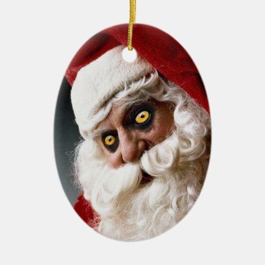 Satan Claus Ceramic Ornament