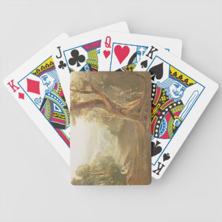 Satan Contemplating Adam and Eve in Paradise, from Bicycle Playing Cards