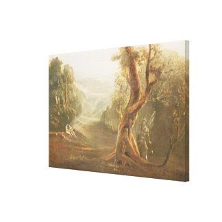 Satan Contemplating Adam and Eve in Paradise, from Canvas Print