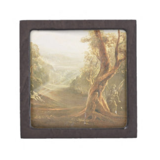 Satan Contemplating Adam and Eve in Paradise, from Gift Box