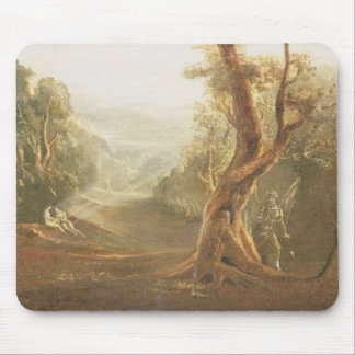 Satan Contemplating Adam and Eve in Paradise, from Mouse Pad