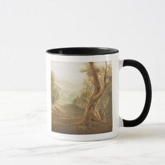 Satan Contemplating Adam and Eve in Paradise, from Mug