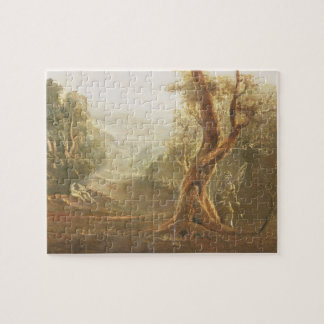 Satan Contemplating Adam and Eve in Paradise, from Puzzle