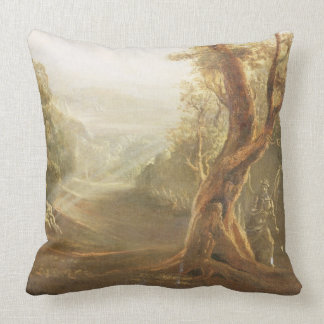Satan Contemplating Adam and Eve in Paradise, from Throw Pillow