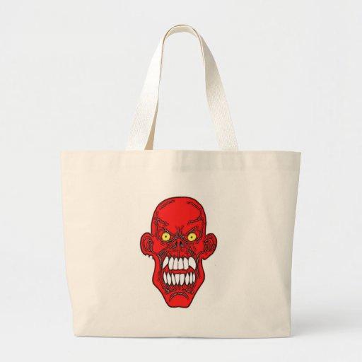 Satan Devil Art Canvas Bags