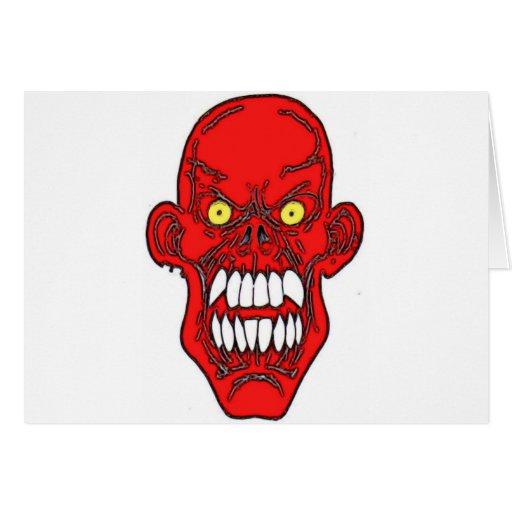 Satan Devil Art Greeting Card