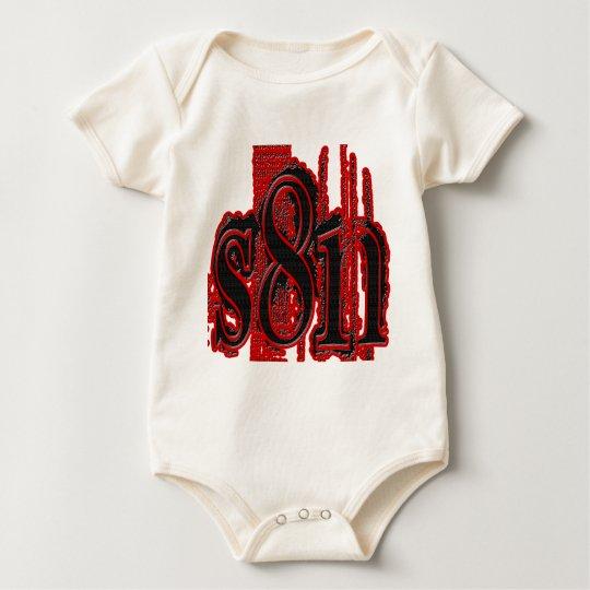 Satan - diseño de la pisada del neumático body para bebé