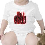 Satan - diseño de la pisada del neumático traje de bebé