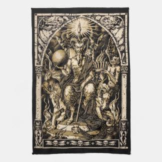 Satan Enthroned 16x24 en algodón de la tela cruzad Toalla De Mano