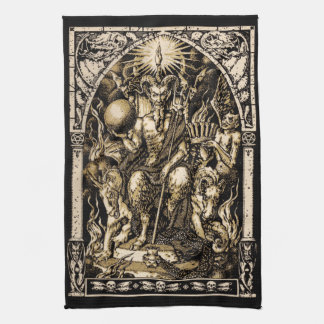 Satan Enthroned 16x24 on Twill Cotton - Towel