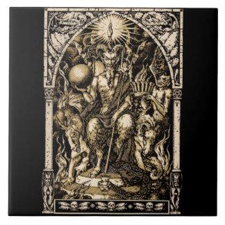 Satan Enthroned Azulejo Cuadrado Grande
