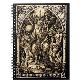 Satan Enthroned el cuaderno espiral