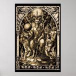 Satan Enthroned el poster del arte 24x36