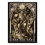 Satan Enthroned la tarjeta de felicitación del sol