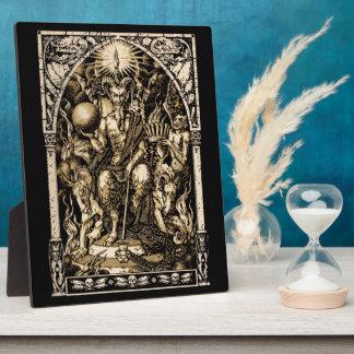 Satan Enthroned Display Plaque