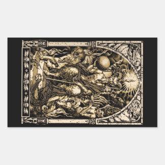 Satan Enthroned Rectangular Sticker