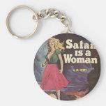 ¡satan es una mujer! llavero