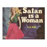 ¡satan es una mujer! tarjetas postales