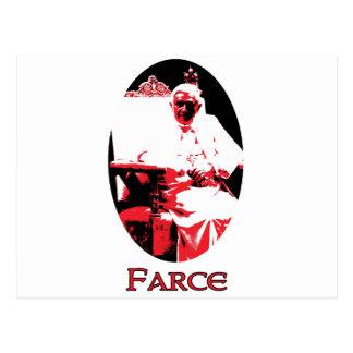 Satan farsa papa Benedicto XV de la hipocresía Postal