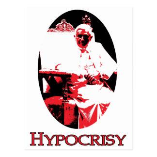 Satan farsa papa Benedicto XV de la hipocresía Tarjetas Postales