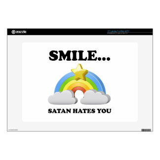 Satan Hates You Laptop Skins