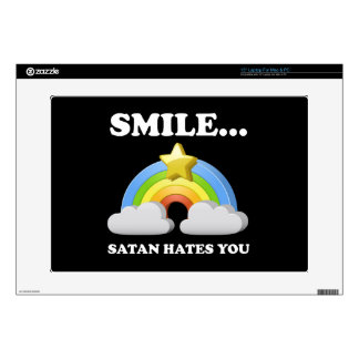 "Satan Hates You 15"" Laptop Decal"