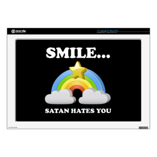 Satan Hates You Decal For Laptop