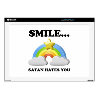 Satan Hates You Laptop Decal