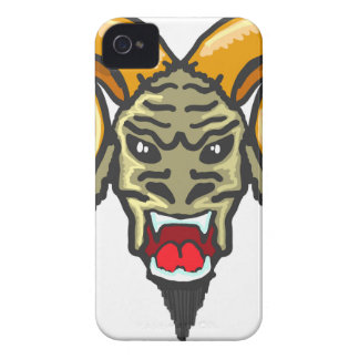 Satan Horned Beast Sketch iPhone 4 Cover