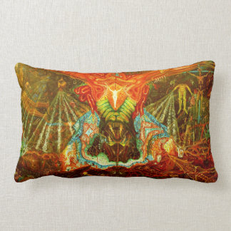 Satan inspiring the world lumbar pillow