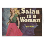 satan is a woman! card