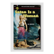 Satan is a Woman Gil Brewer Book Cover Poster