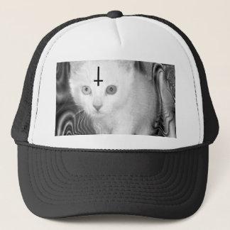 satan kitty trucker hat