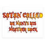Satan llamó la ola de calor 2011 tarjetas postales