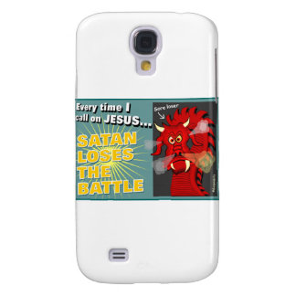 Satan Loses The Battle Christian Gift Galaxy S4 Covers