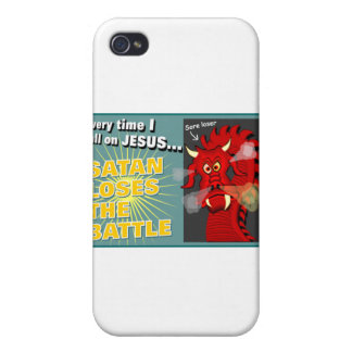 Satan Loses The Battle Christian Gift Cover For iPhone 4