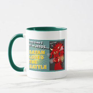 Satan Loses The Battle Christian Gift Mug