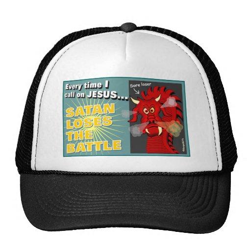 Satan Loses The Battle Christian Gift Trucker Hat