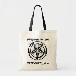 Satan me ama bolso bolsa lienzo