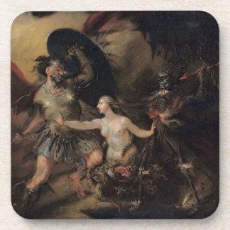 Satan, pecado y muerte de William Hogarth Posavasos De Bebida
