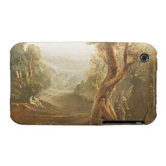 Satan que comtempla Adán y a Eva en paraíso, de iPhone 3 Case-Mate Protector
