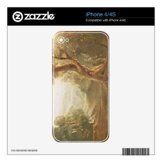 Satan que comtempla Adán y a Eva en paraíso, de iPhone 4 Calcomanías