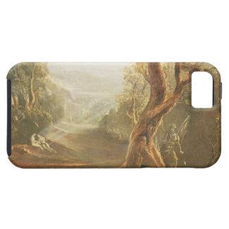 Satan que comtempla Adán y a Eva en paraíso, de iPhone 5 Carcasas