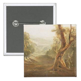 Satan que comtempla Adán y a Eva en paraíso, de Pin Cuadrada 5 Cm