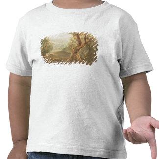 Satan que comtempla Adán y a Eva en paraíso, de Camiseta