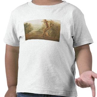 Satan que comtempla Adán y a Eva en paraíso, de Camisetas