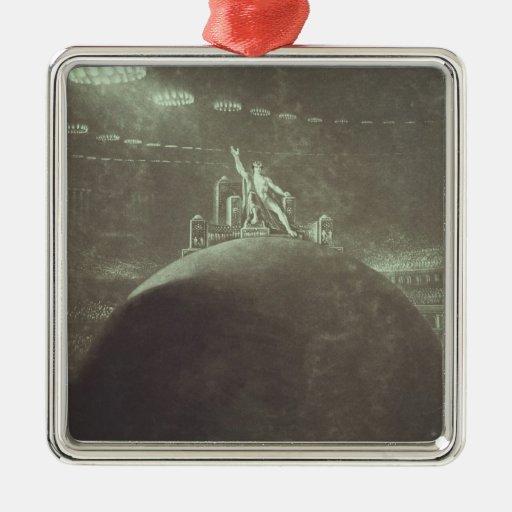 Satan que preside en el consejo infernal, 1824 ornamentos de navidad