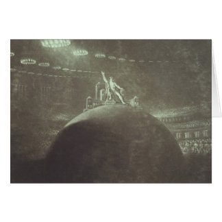 Satan que preside en el consejo infernal, 1824 tarjeta de felicitación