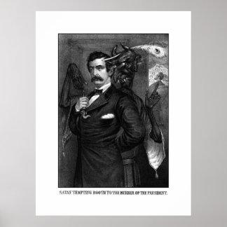 Satan que tienta a John Wilkes Booth Póster